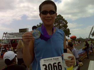 Linda with medal 062809