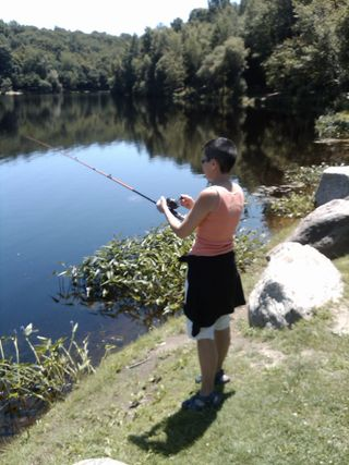 Linda fishing