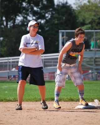 Kickball - playing 2nd base