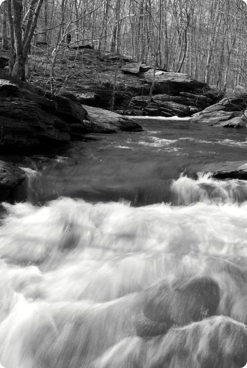 Rushing water at lake mohegan 032710